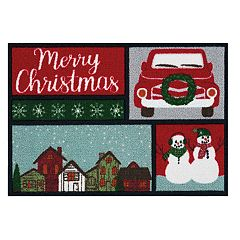 St. Nicholas Square® Patchwork Christmas Accent Rug - 20'' x 30''