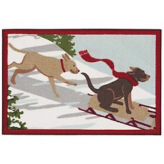 St. Nicholas Square® Christmas Dogs Accent Rug - 20'' x 30''