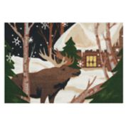 St. Nicholas Square® Christmas Moose Accent Rug - 20'' x 30''