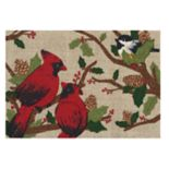 St. Nicholas Square® Christmas Cardinals Accent Rug