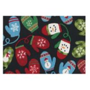 St. Nicholas Square® Christmas Mittens Accent Rug