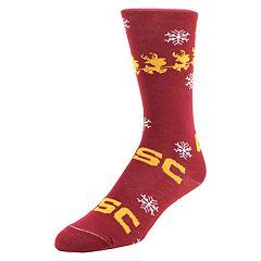 Men's Mojo USC Trojans Santa's on His Way Crew Socks