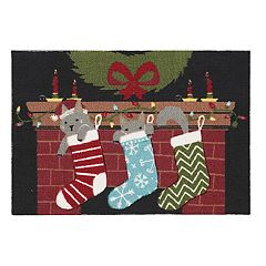 St. Nicholas Square® Christmas Cats Accent Rug - 20'' x 30''