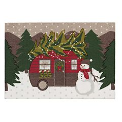 St. Nicholas Square® Christmas Trailer Accent Rug - 20'' x 30''