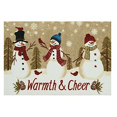 St. Nicholas Square® Snowmen Warmth & Cheer Christmas Accent Rug - 20'' x 30''