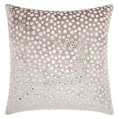 Mina Victory Life Styles Velvet Mirrors Throw Pillow