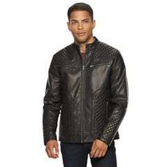Men's XRAY Washed Faux-Leather Moto Jacket