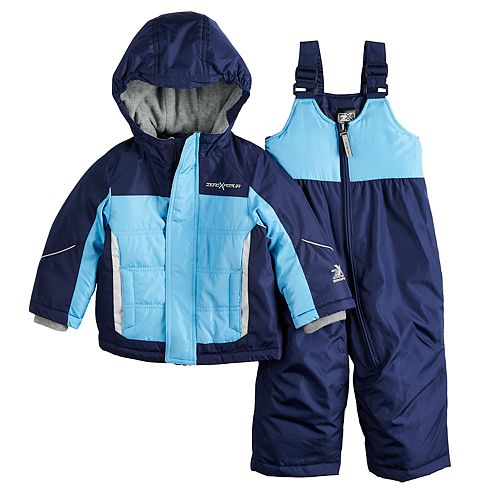 Baby Boy Mini ZeroXposur Bryce Reflective Heavyweight Jacket & Bib Snow Pants Set