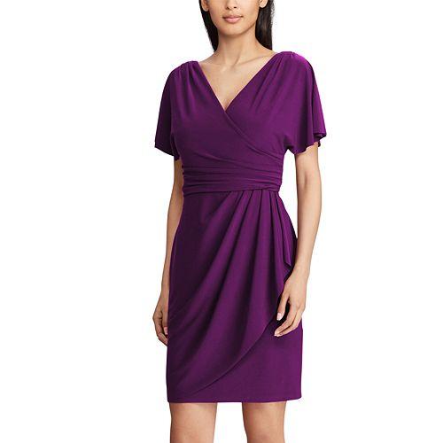 58bccb9930b Women s Chaps Pleated Faux-Wrap Dress
