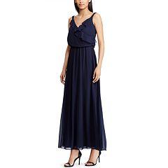 Women's Chaps Ruffle Maxi Dress