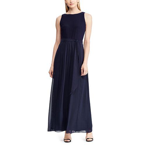Women's Chaps Mixed-Media Maxi Dress