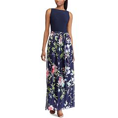 Women's Chaps Mixed-Media Maxi Dress