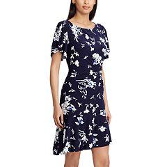Women's Chaps Floral Flounce Hem Dress