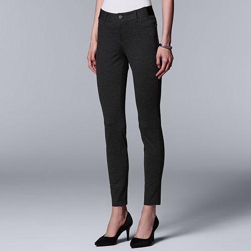 Women's Simply Vera Vera Wang Everyday Luxury Ponte Skinny Pants