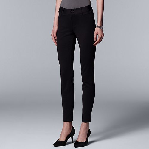 36c61784cbf Women s Simply Vera Vera Wang Everyday Luxury Ponte Skinny Pants