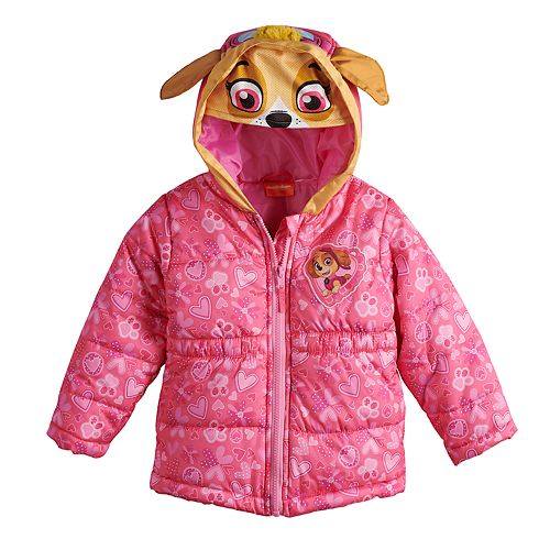Toddler Girl Paw Patrol Skye Heavyweight Hooded Puffer Jacket