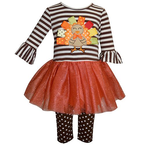 eeb958a9f47cd Toddler Girl Blueberi Boulevard Thanksgiving Turkey Tutu Dress ...