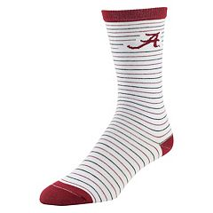 Women's Mojo Alabama Crimson Tide Pinstripe Crew Socks