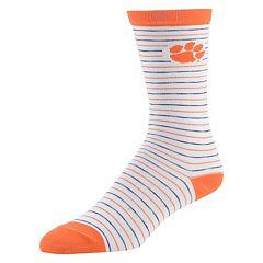 Women's Mojo Clemson Tigers Pinstripe Crew Socks
