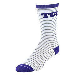 Women's Mojo TCU Horned Frogs Pinstripe Crew Socks