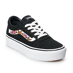 349d696934b0 Vans Ward Women s Platform Skate Shoes. Black White Floral