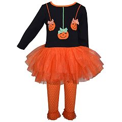 Toddler Girl Blueberi Boulevard Halloween Tutu Dress & Leggings Set