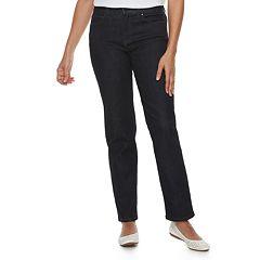 Women's Croft & Barrow® Classic Tummy Control Straight-Leg Jeans