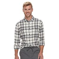 SONOMA Goods for Life Modern-Fit Plaid Flannel Shirt Deals