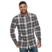 Men's SONOMA Goods for Life? Modern-Fit Plaid Flannel Button-Down Shirt