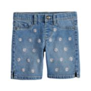 Girls 4-12 SONOMA Goods for Life? Embroidered Daisy Denim Shorts