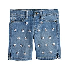 Girls 4-12 SONOMA Goods for Life™ Embroidered Daisy Denim Shorts