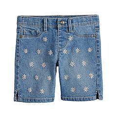 Girls 4-12 SONOMA Goods for Life™ Embroidered Daisy Denim Shorts