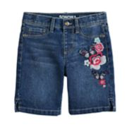 Girls 4-12 SONOMA Goods for Life? Embroidered Flower Denim Shorts