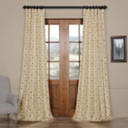 EFF Iron Gate Printed Faux Silk Taffeta Blackout Curtain