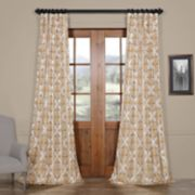 EFF Tiera Printed Faux Silk Taffeta Blackout Curtain