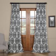 EFF Royal Printed Faux Silk Taffeta Blackout Curtain