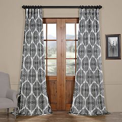 EFF Blackout 1-Panel Royal Printed Faux Silk Taffeta Curtain