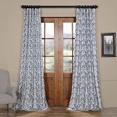 EFF Rococo Printed Faux Silk Taffeta Blackout Curtain