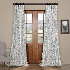 EFF Blackout 1-Panel Rococo Printed Faux Silk Taffeta Curtain