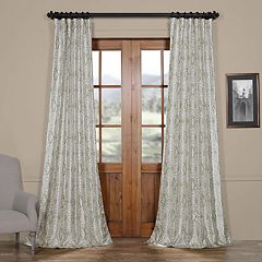EFF Blackout 1-Panel Tabriz Printed Faux Silk Taffeta Curtain