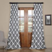 EFF Donegal Printed Faux Silk Taffeta Blackout Curtain
