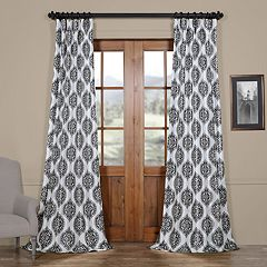 EFF Blackout 1-Panel Donegal Printed Faux Silk Taffeta Curtain