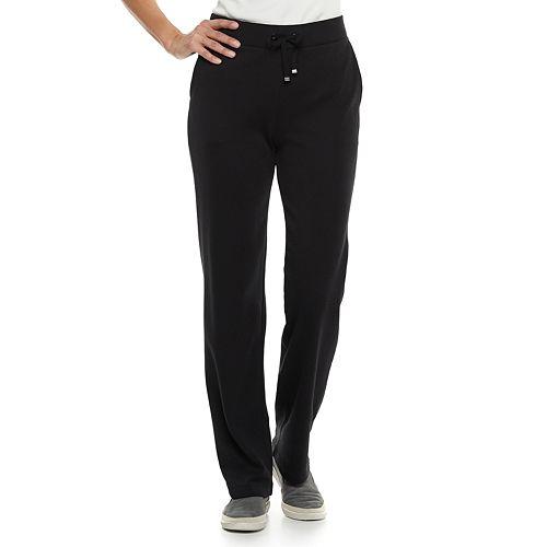 Petite Croft & Barrow® Drawstring Mid-Rise Lounge Pants