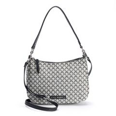 Dana Buchman Betsy Chain-Link Jacquard Shoulder Bag