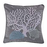 Siesta Key Coral Throw Pillow