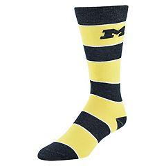 Men's Mojo Michigan Wolverines Class Act Crew Dress Socks