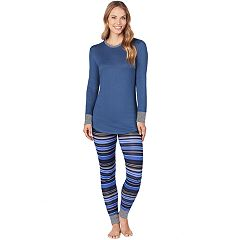 Women's Cuddl Duds Cozy Crewneck Top & Leggings Set