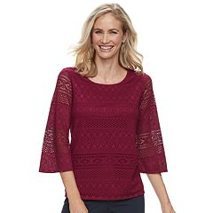 Women's Dana Buchman Lace Bell-Sleeve Top