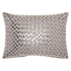 Mina Victory Trendy, Hip, & New Age Woven Faux Leather Oblong Throw Pillow