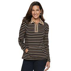 Women's Croft & Barrow® 1/4-Zip French Terry Sweatshirt